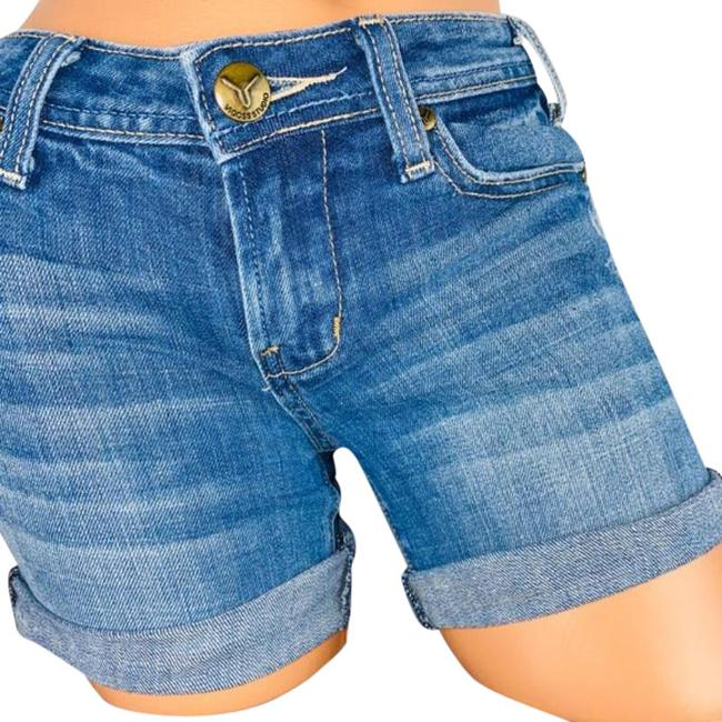 Item - Blue The Ritz Whiskered Jean Shorts Size 0 (XS, 25)