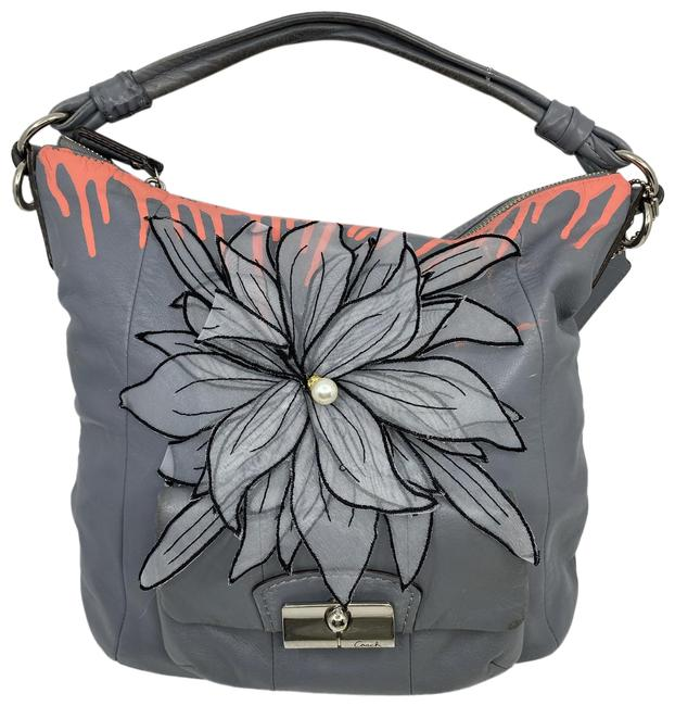 Item - W Hand Customized By Me Street Art Gray Coral Black Tote