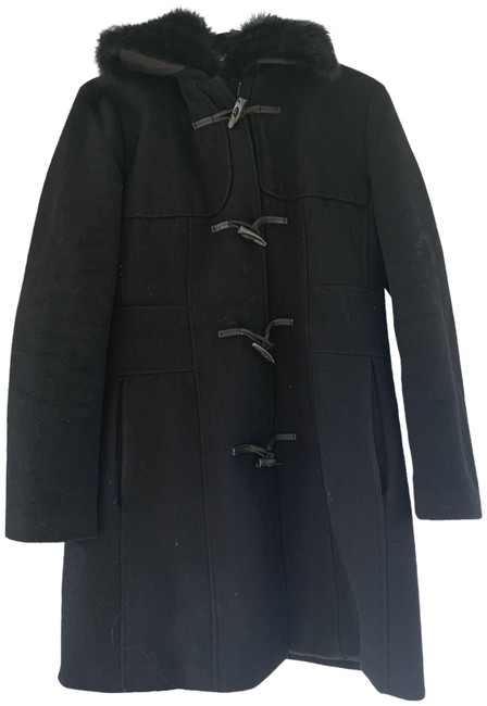 Item - Black Vintage with Toggle Buttons and Zipper. Coat Size 12 (L)