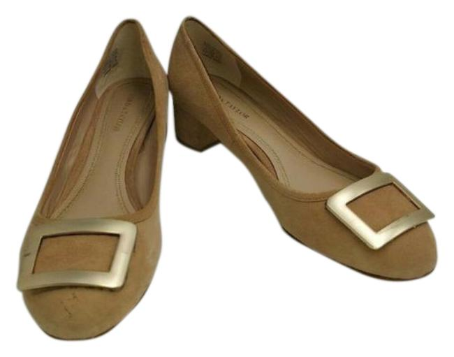Item - Brown And Tan Suede Leather Round Pumps Size US 8.5 Regular (M, B)
