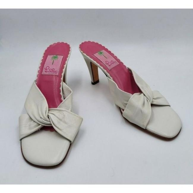 Item - White Leather Criss Sandals Size US 7.5 Regular (M, B)