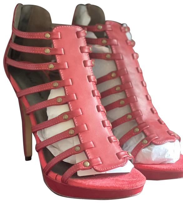 Item - Red Open Toes Pumps Size US 8 Regular (M, B)