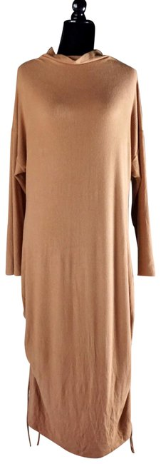 Item - Hazelnut Brown Emily Ruched Ribbed Midi New 3x Mid-length Short Casual Dress Size 26 (Plus 3x)