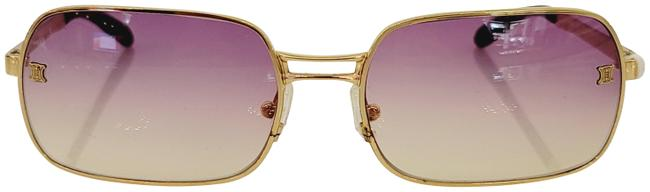 Item - Golden / Blue 1980´s Made In Italy Sunglasses