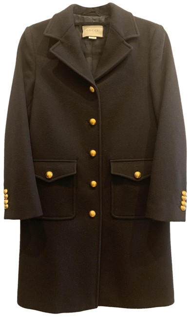 Item - Black Marmont With Gg Martingale Coat Size 4 (S)