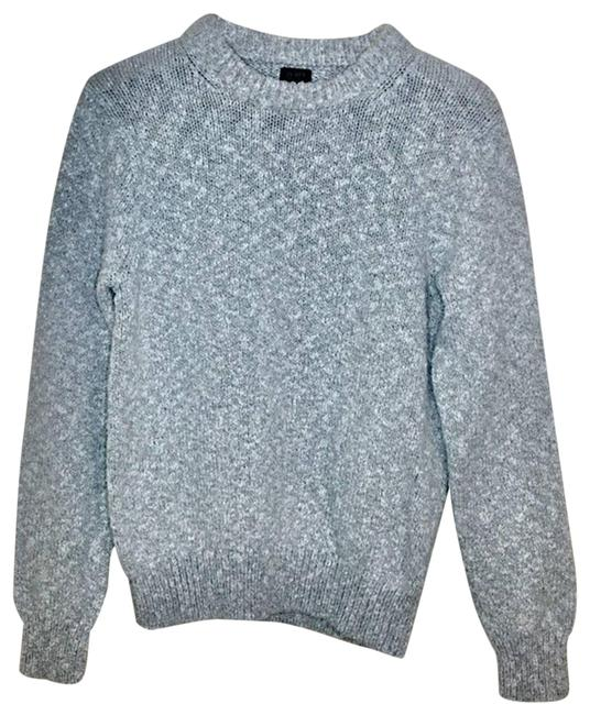 Item - Knit Neck Long Sleeved Gray Sweater