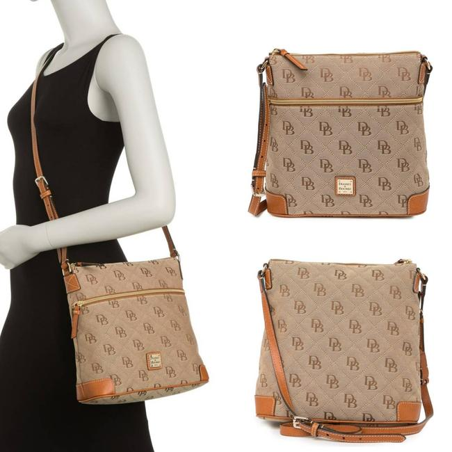 Item - Maxi Quilt Brown Coated Canvas Cross Body Bag