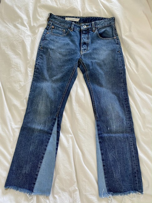 Item - Pilcro and The Letterpress Blue High Rise Botton Fly Flare Leg Jeans Size 24 (0, XS)
