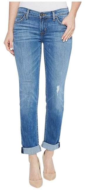Item - Blue Distressed Capri/Cropped Jeans Size 25 (2, XS)