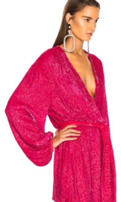 Item - Fuchsia Gabrielle Mid-length Night Out Dress Size 4 (S)