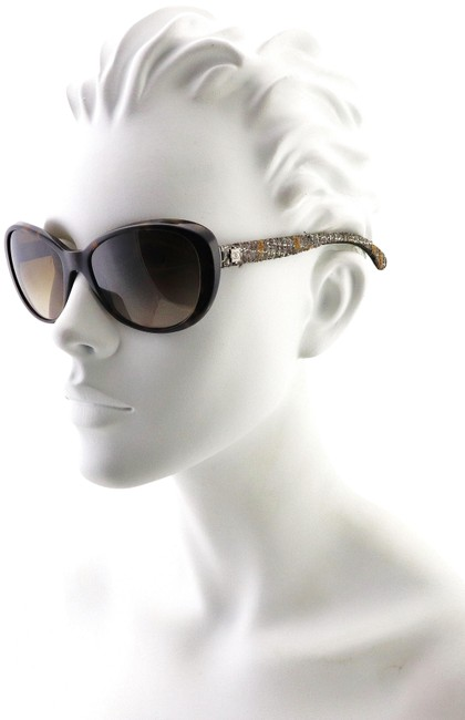 Item - Brown Ch 5241 C.714/3b Tweed Collection Round Cats Eye 56mm Sunglasses