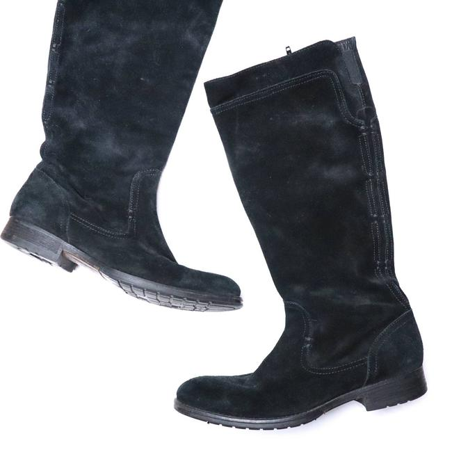 Item - Black Suede Leather Calf Boots/Booties Size US 9 Regular (M, B)