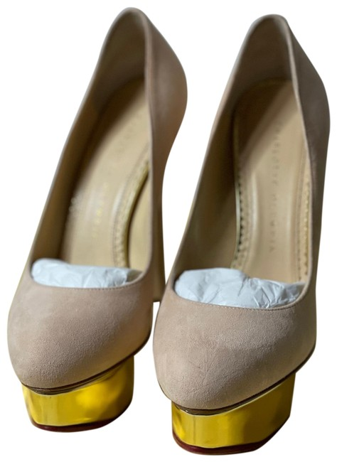 Item - Pale Pink Dolly Pumps Size US 6.5 Narrow (Aa, N)