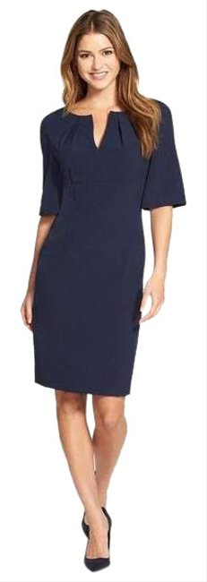Item - Navy Blue Mid-length Cocktail Dress Size 2 (XS)