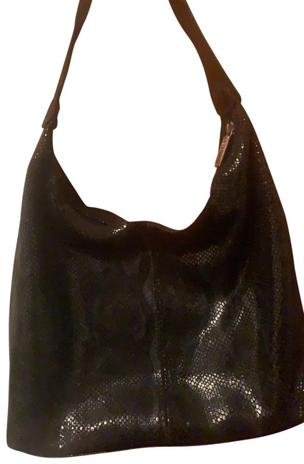 Item - Made In Italy Black Leather Hobo Bag