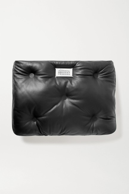 Item - Slam Quilted Black Leather Clutch