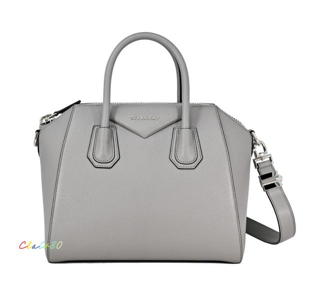 Item - Antigona Pearl Grey Leather Satchel
