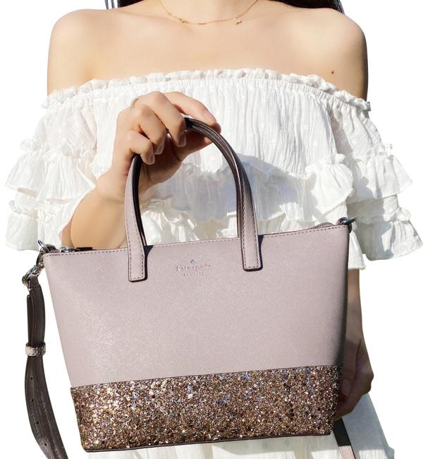 Item - Crossbody Greta Court Ina Glitter Small Top Cityscape Gray Satchel