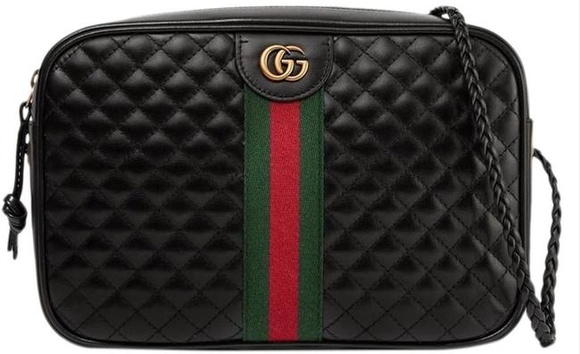 Item - Camera Marmont Quilted Handbag Black Red Green Leather Cross Body Bag