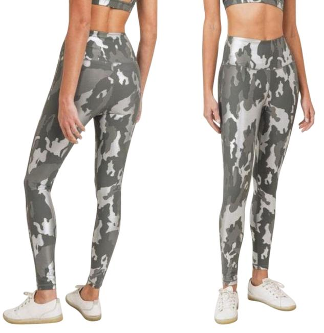 Item - Gray S Aph2850 Gun Metal Foil Camo High Waist Activewear Bottoms Size 4 (S, 27)