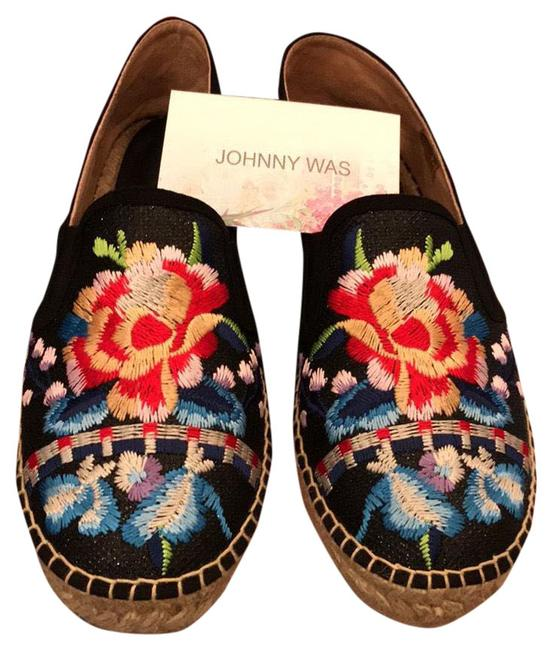 Item - Black with Multi Color Flower Cs92419-1 Flats Size US 9 Regular (M, B)