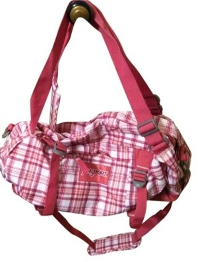 JanSport Pink and White Travel Bag