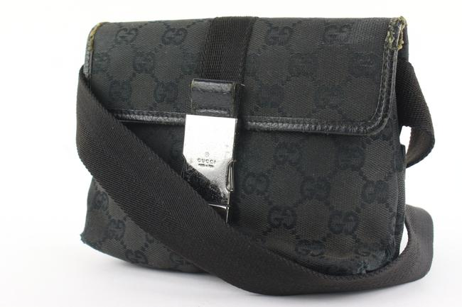 Gucci Waist Monogram Belt Pouch Fanny Pack 948gks416 Black Gg Canvas Cross Body Bag Gucci Waist Monogram Belt Pouch Fanny Pack 948gks416 Black Gg Canvas Cross Body Bag Image 1