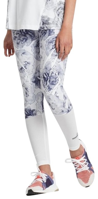 Item - White and Blue Floral Activewear Bottoms Size 4 (S)