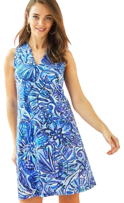 Item - Blue Paisley Print Short Casual Dress Size 00 (XXS)