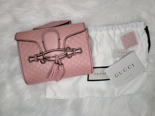 Item - Chain Shoulder Emily Mini Soft Pink Leather Cross Body Bag