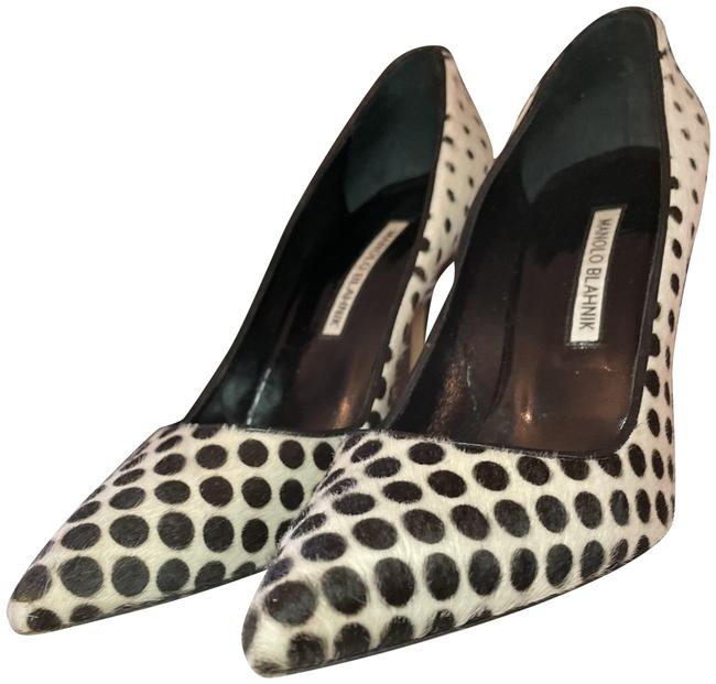 Item - Black and White Polka Dots Whb Pumps Size US 8.5 Regular (M, B)