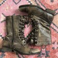 AllSaints Brown Tan Distressed Military Moto Lace Up Boots/Booties Size EU 37 (Approx. US 7) Regular (M, B) AllSaints Brown Tan Distressed Military Moto Lace Up Boots/Booties Size EU 37 (Approx. US 7) Regular (M, B) Image 4
