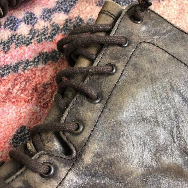 AllSaints Brown Tan Distressed Military Moto Lace Up Boots/Booties Size EU 37 (Approx. US 7) Regular (M, B) AllSaints Brown Tan Distressed Military Moto Lace Up Boots/Booties Size EU 37 (Approx. US 7) Regular (M, B) Image 5
