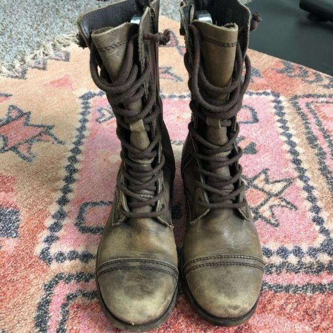 AllSaints Brown Tan Distressed Military Moto Lace Up Boots/Booties Size EU 37 (Approx. US 7) Regular (M, B) AllSaints Brown Tan Distressed Military Moto Lace Up Boots/Booties Size EU 37 (Approx. US 7) Regular (M, B) Image 8