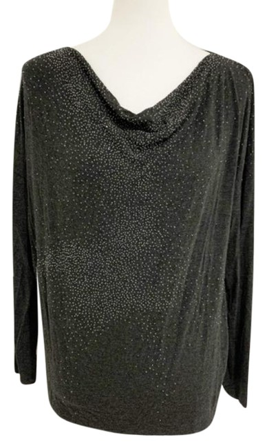 Item - Gray Silver Cowl Neck Beaded Tunic Size 8 (M)