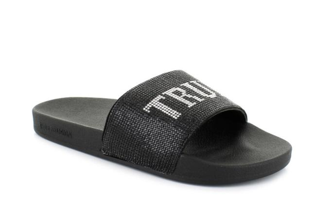 Item - Black Silver New Meyer Bling Flip Flops Sandals Size US 7 Regular (M, B)