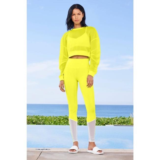 Item - Yellow High-waist Trainer In Highlighter Activewear Bottoms Size 4 (S, 27)