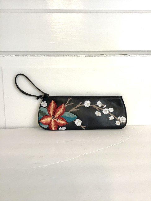 Item - Black/Multi Leather Wristlet