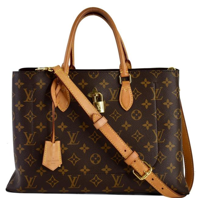 Item - Bag Flower Brown/Beige Monogram Canvas and Leather Tote