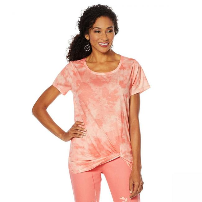 Item - New 2x Dg2 By Womens Solid Knotted Tee Shirt Size 24 (Plus 2x)