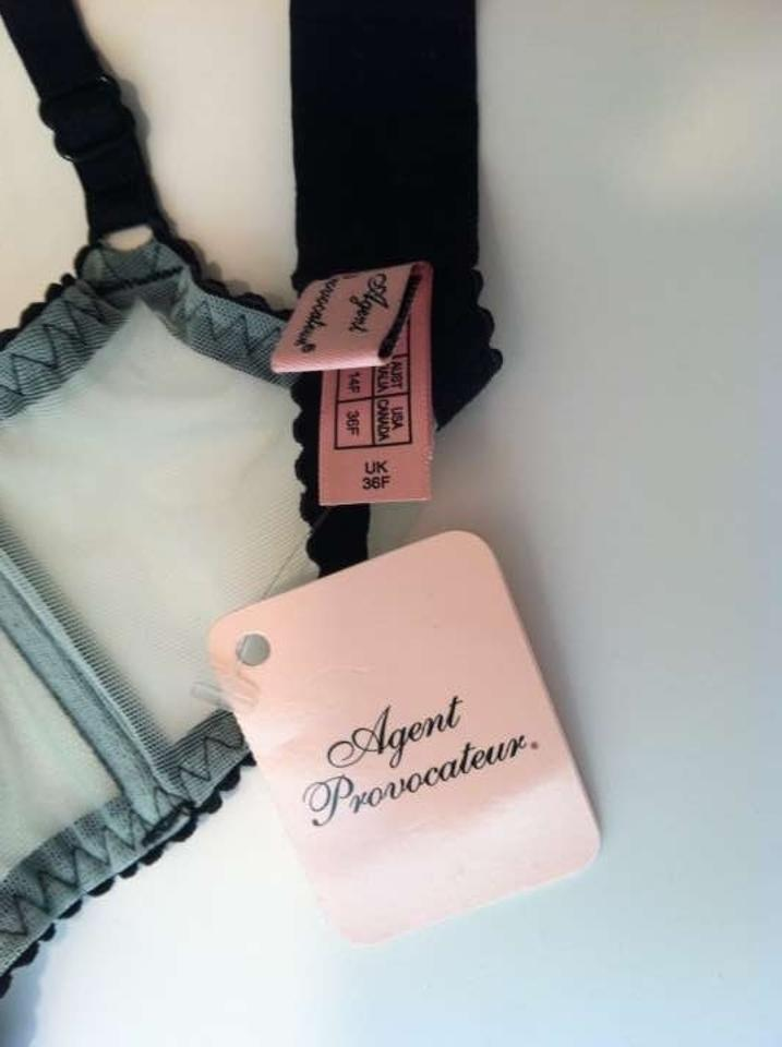 ea49629245 Agent Provocateur Mint Green and Black Bra Knickers Forever ...