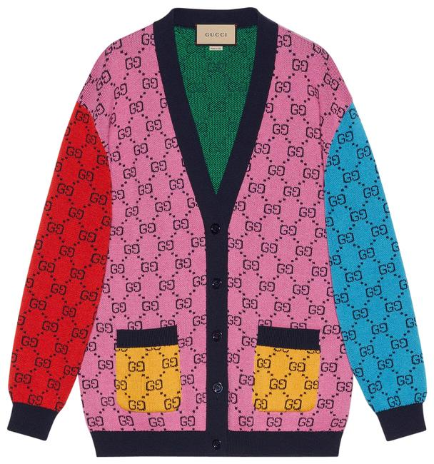Item - Multi Color Gg Wool Cotton Cardigan Size 4 (S)