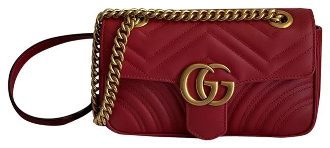 Item - Marmont Mini Red Leather Cross Body Bag