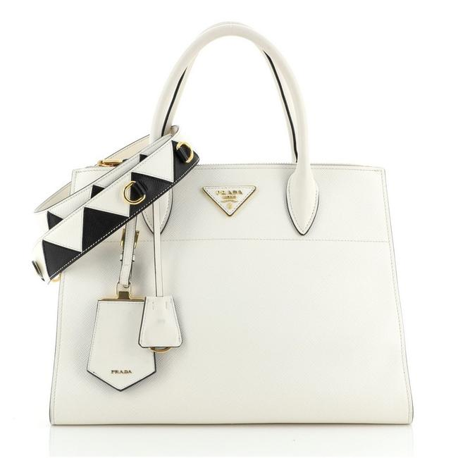 Item - Paradigme Saffiano with City Calf Medium White Leather Tote