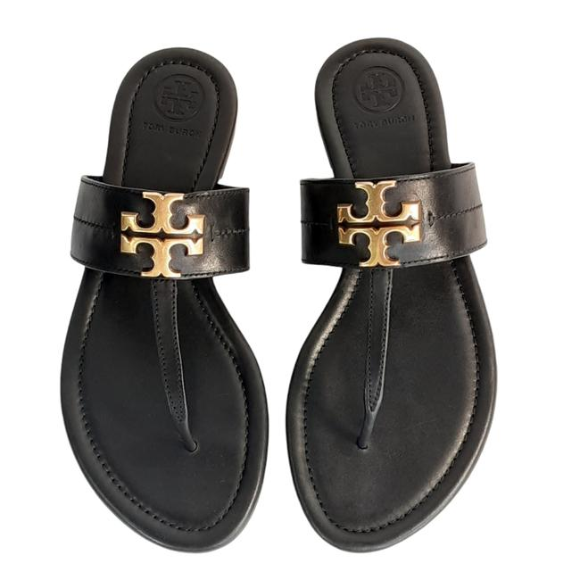 Item - Black Everly Backless Thong Flat Sandals Size US 6.5 Regular (M, B)