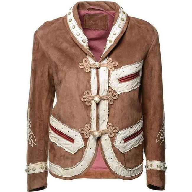 Item - Brown Suede Embroidered Jacket Size 2 (XS)