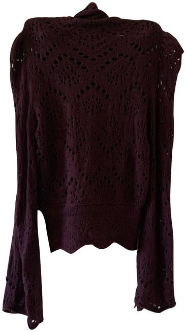 Free People Burgundy Sweater Free People Burgundy Sweater Image 1