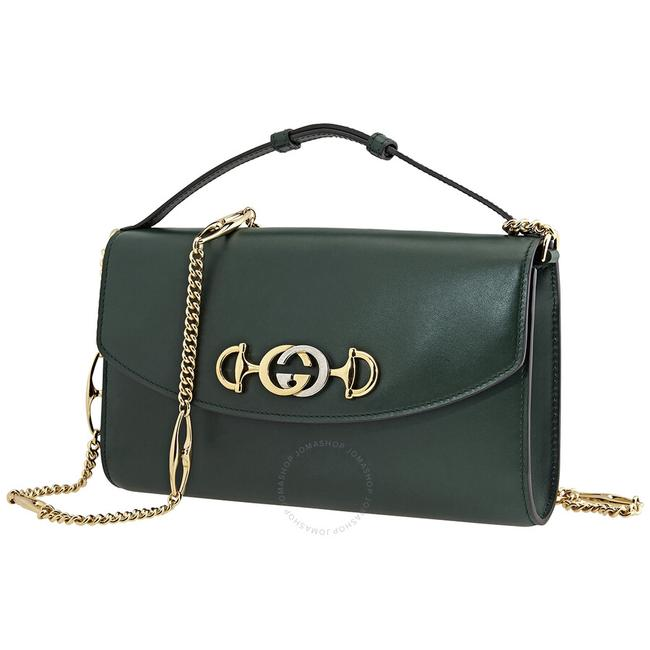Gucci Zumi Smooth Small Green Leather Shoulder Bag Gucci Zumi Smooth Small Green Leather Shoulder Bag Image 1