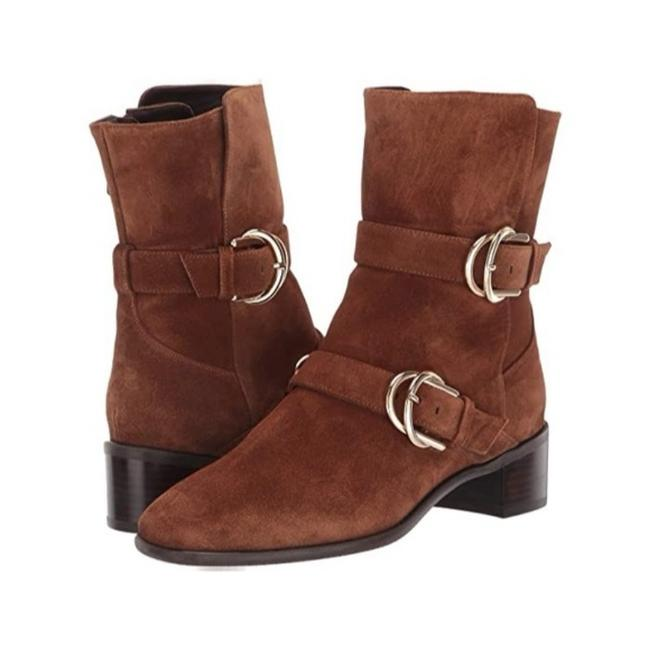 Item - Brown Britain Toe Buckle Boots/Booties Size US 5.5 Regular (M, B)