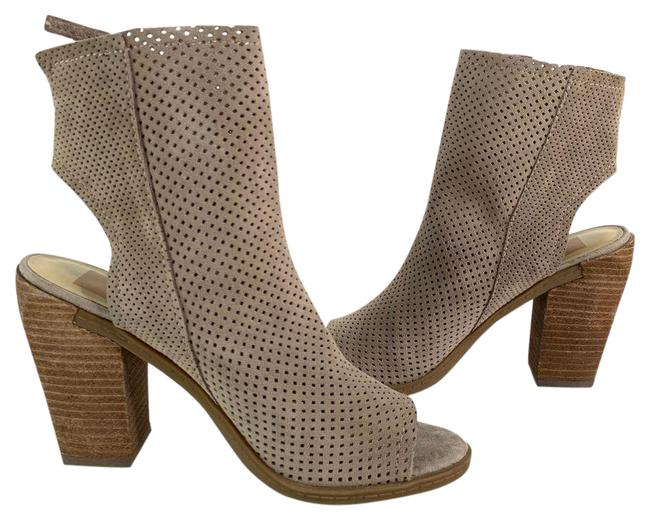 Item - Gray Perforated Cut Out Peep Cut Out Heels Boots/Booties Size US 6.5 Regular (M, B)